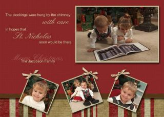 CUSTOM PERSONALIZED CHRISTMAS HOLIDAY GREETING CARDS   PHOTO INCLUDED