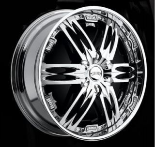 26 DUB SPIN Nasty Wheel SET 26x10 Chrome Rims for RWD 5 & 6 Lug