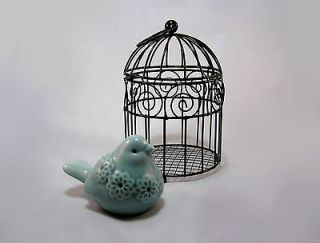 black decorative bird cages