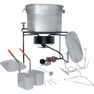Propane Deep Fryer & Boiler   2 Baskets   33,000 BTU Burner   Outdoor