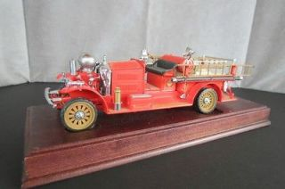 Diecast Firetruck Franklin Mint Precision Model 1923 Ahrens Fox