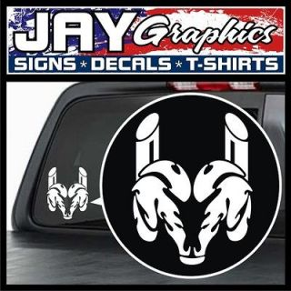 Dodge Ram Diesel Stacks Vinyl Decal / Sticker (White) Window Truck