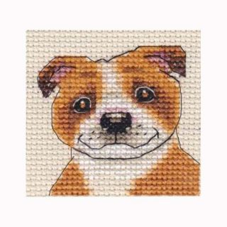 STAFFORDSHIRE BULL TERRIER, dog, puppy ~ Full counted cross stitch kit