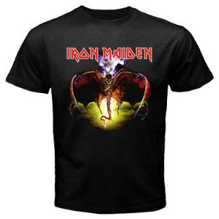 New IRON MAIDEN Heavy Metal Rock Band Mens Black T Shirt Size S   3XL