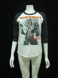 IRON MAIDEN Eddie Killers Punk Rock Jersey T Shirt Women Sz M