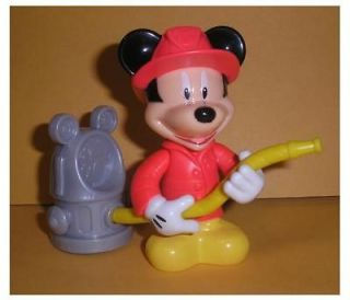 Collectible Disney Mickey Mouse Fire fighter fireman with hydrant