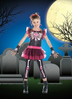 Sweether Skeleton Girl Halloween Party Light Up Costume Stunning Tutu