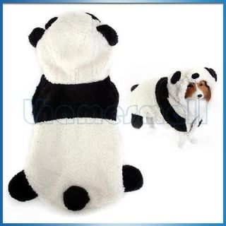 Dog Puppy Pet Coat Jacket Costume Outfit Panda Hoodie Hooded Jumpsuit