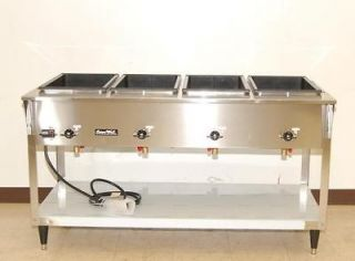 Vollrath ServeWell 4 Bay Electric Steam Table NEW 38214