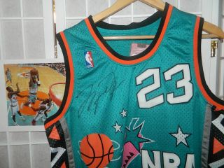 MICHAEL JORDAN SIGNED 1996 ALL STAR UDA UPPER DECK JERSEY AUTO