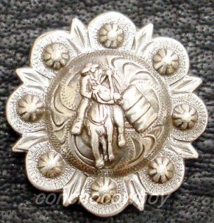 Set of 6 WESTERN ANTIQUE BARREL RACER SADDLE CONCHOS 1