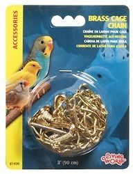 Hagen Living World 3 Ft. Bird Cage Chain for Hanging BRASS