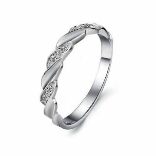 Fashon Shiny Platinum Plated Cubic Zirconia Unisex Mens Ladies