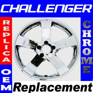 08 13 Dodge Challenger 18 Chrome Wheel Skin Hubcap Rim Cover Hub Cap