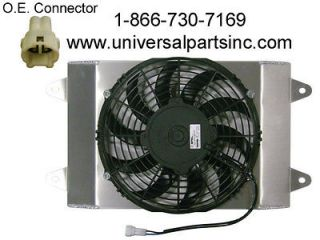 2008 2012 YAMAHA RHINO 700 HP SPAL RADIATOR COOLING FAN 5B4 E2405 00 0