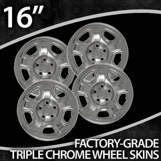 02 2007 Jeep Liberty 16 Inch Chrome Wheel Skin Covers (Fits Jeep