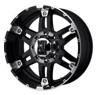 17x8 Black XD XD797 Spy 6x135 +18 Wheels Toyo Open Country AT II 285