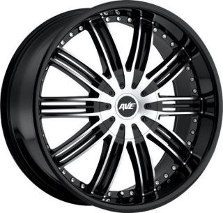 24 BLACK RIMS 5X135/139 TIRES FORD DODGE RAM DURANGO