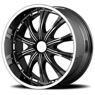 20 inch Diamo 30 karat black wheels 5x150 Toyota Tundra