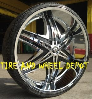26 INCH DIABLO ELITE RIMS AND TIRES AVALANCHE ESCALADE ARMADA QX56