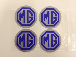 NEW MG ZR LE500 BLUE Alloy Wheel Centre Cap Badges (CLR 80mm)
