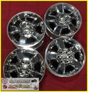 12 SILVERADO SUBURBAN AVALANCHE TAHOE 18 CHROME CLAD WHEELS USED 5415