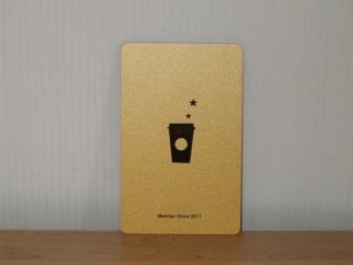 Starbucks 2011 China VIP Card Gold Level Card