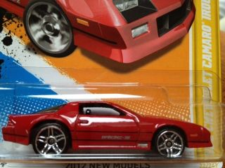 2012 Hot Wheels 1985 Chevrolet Camaro IROC Z Red