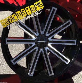 Wheels Tires Rims 5x115 KMC Rebel Dodge Charger 2010 2011 2012