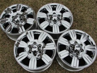 F150 Lariat 18 Chrome Clad Wheels Oem Rims & TPMS 2011 2010 2009 3785