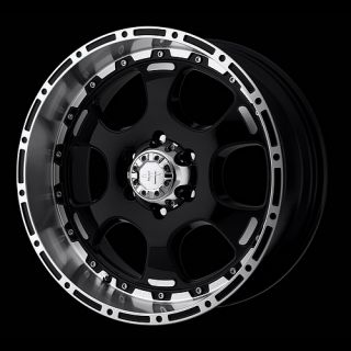 HE842 Gloss Black 8x170 Ford Super Duty Wheels Rims Free Lugs
