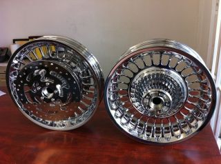 CHROME PLATING ROAD KING 28 SPOKE WHEELS W ROTORS 2009 2012 TOURING
