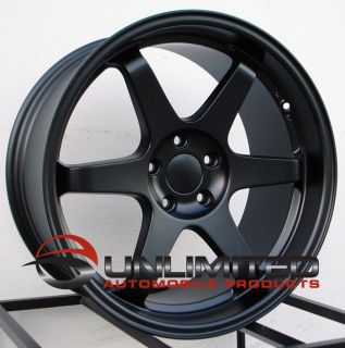 ES2 Staggered Matte Black Wheels Rims Fit BMW E60 M5 M3 2008