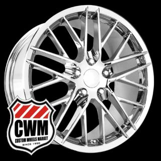 Corvette C6 ZR1 Style Chrome Wheels Rims Fit Corvette C6 2009
