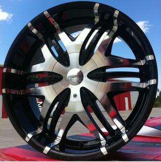 WHEELS RIMS TIRES FW40 BLACK MACHINED 5X120 CHEVROLET CAMARO 2010