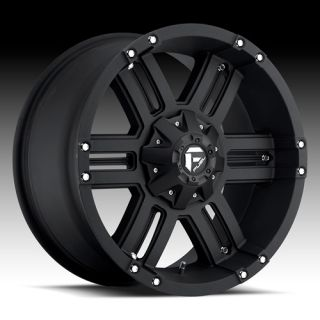 FUEL OFF ROAD WHEELS 18 X 9 GAUGE BLACK 2007   2012 TOYOTA TUNDRA LIFT
