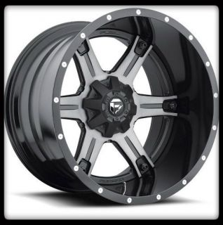 MHT FUEL OFF ROAD D257 DRILLER 2PC 6X5 5 135 F150 XL BLACK WHEELS RIMS