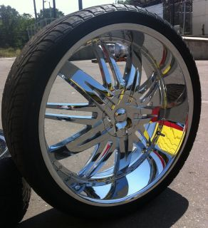 24 INCH H7 RIMS & TIRES ESCALADE YUKON EXPEDITION SILVERADO SIERRA