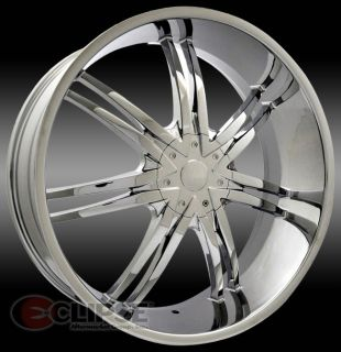 22 inch ELR15 Chrome Wheels Rims 5x115 Chrysler 300C