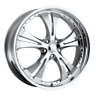 15 inch Vision Shockwave Chrome Wheels Rims 5x115 38