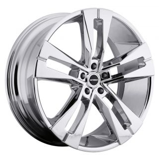 22 inch Strada Razza Chrome Wheels Rims 5x5 5x127 2007 Jeep Wrangler