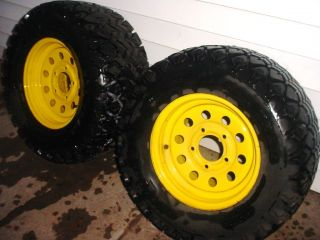 Deere Gator Carlisle Tires and Rims 25x10 50 12 NHS All Trail