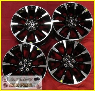 11 12 Ford Mustang 19 Machined Black Wheels Factory Take Off Rims Set