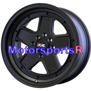 16 16x8 XXR 532 Flat Black Wheels Rims Deep Dish Drift 89 90 94 Nissan