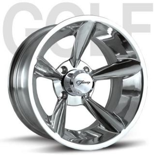 Fairway Alloys Bullet Hand Polished Golf Cart 4 Wheels Rim 14X7