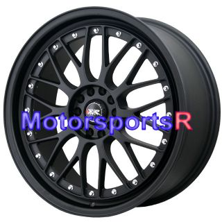 XXR 521 Flat Black Wheels Rims Lip 5x114 3 04 05 08 09 11 Subaru STI