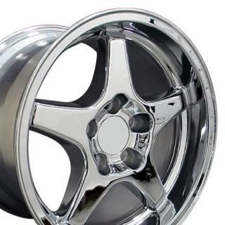 C4 C5 CORVETTE ZR1 WHEELS RIMS CHROME FINISH 17x11 DEEP DISH REARS