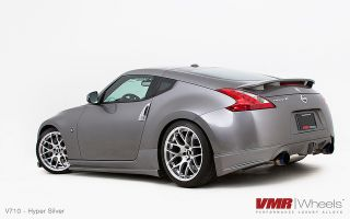 19x10 11 Staggered VMR V710 Hyper Silver Wheels Rims Fit Nissan 350Z