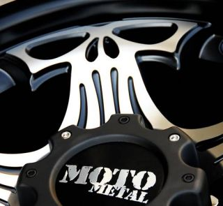 18 Moto Metal Black Skull Wheels Rims Jeep Wrangler JK