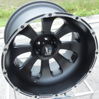 22x14 Black KMC XD Armour Wheels Rims Chevy GMC 1500 6x5 5 Nissan